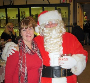 Poet in Residence Diane Sahms-Guarnieri with Santa Claus